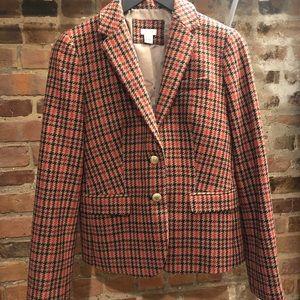 J. Crew plaid tweed blazer